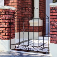 3ft Metal Garden Gate Wrought Iron Pedestrian Gate with Fittings Bolt Heavy Duty