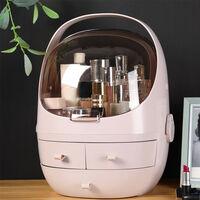 Makeup Storage Box Cosmetic Jewelry Organizer Unit, Pink 24x33.5cmcm