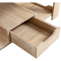 Wooden Coffee Table 1 Drawer Storage Home Office Bedroom Living Room Table