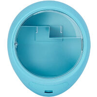 Wall Mount Makeup Display Organizer Storage Drawer, Blue