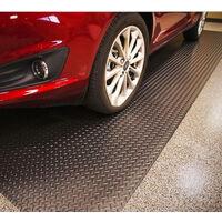 RHOMBIC PLATE ROLL MAT GARAGE CAR RUBBER MATTING 1.5M WIDE ANTI SLIP MAT, LENGTH 6M