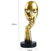 Large Art Abstract Thinker Sculpture Statue Ornament, Gold 29x10CM