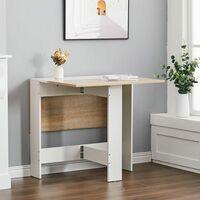 Folding Dining Table Wooden Drop-Leaf Desk Compact Kitchen Living Room Furniture