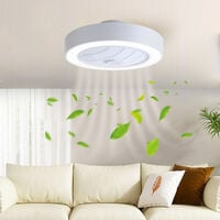 Ceiling Fan LED Lights 7 Blades Adjustable Wind Speed Dimmable IR Remote Control