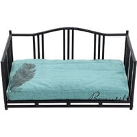 Luxury Metal Iron Frame Dog Cat Cushioned Bed Couch Sofa Bed Comfy Pet Nest Home