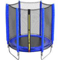 5ft Kids Trampoline with Enclosure Safety Net In/Outdoor Playground,Blue