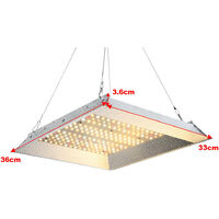 600W Led Grow Light Full Spectrum for Indoor Plants IR, Silver