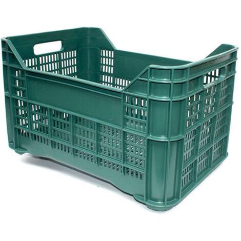 Cassette ortofrutta per raccolta olive, uva, frutta: forate, 40 litri Confez. da 10 pz. Mis esterna cm (LxPxH) 51x35x31 Capacità Lt 40 Colore Verde Versione Base e Pareti forate Peso kg 1,55 Modello NON INSERIBILE