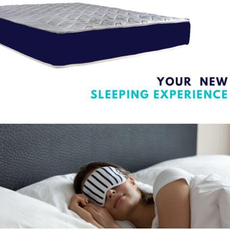Sleepers Mattress KORIS Sprung 135x190 cm H22 Memory Foam 9 Zones 4'6 Double