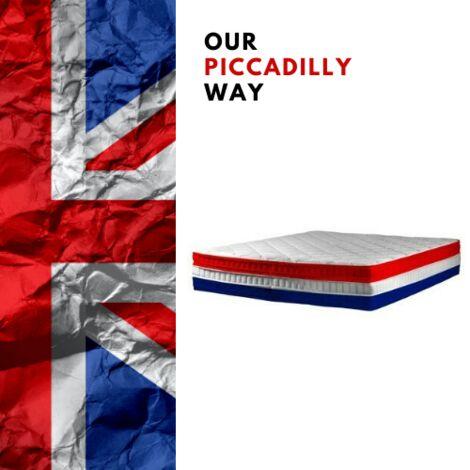 Mattress Fraternité 135x190 H30 cm Memory foam High Density Balanced Support Superior Comfort 4'6 Double