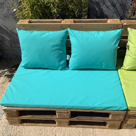 Ensemble de coussins palette Turquoise 80 x 120 x 5 cm - Turquoise