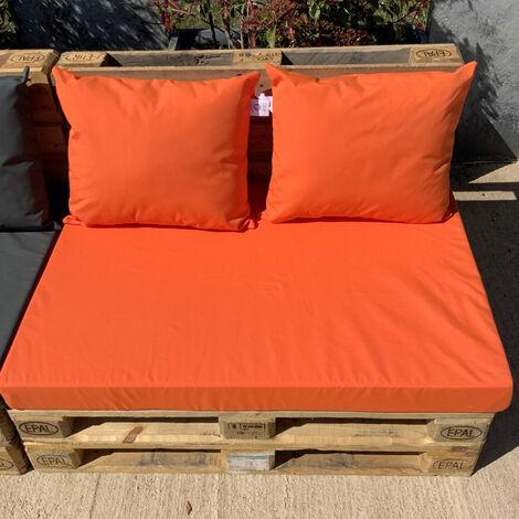 Ensemble de coussins palette Orange 80 x 120 x 5 cm - Orange