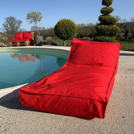 Housse de matelas bain de soleil Rouge 160 x 65 cm - Rouge
