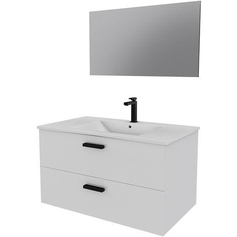 Ensemble design de salle de bain Blanc