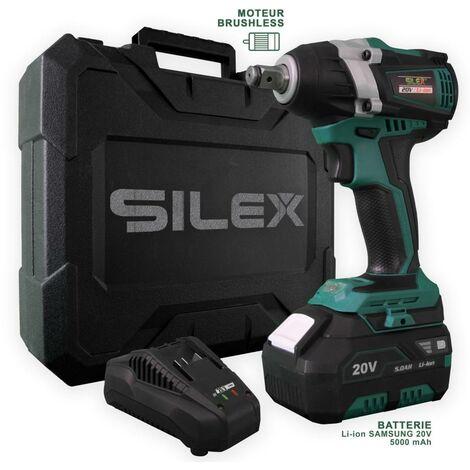 Clé à Chocs 20V Sans Fil Silex® 20V (1 x batterie 5  Ah Samsung  Lithium )