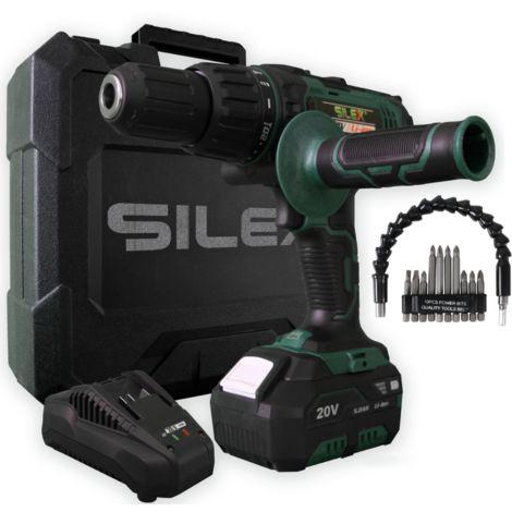 Coffret perceuse sans fil Silex® 20V ( 1 batterie 2ah ) + accéssoires