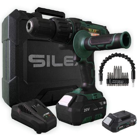 Coffret perceuse sans fil Silex® 20V ( 2 batterie  2ah ) + accéssoires