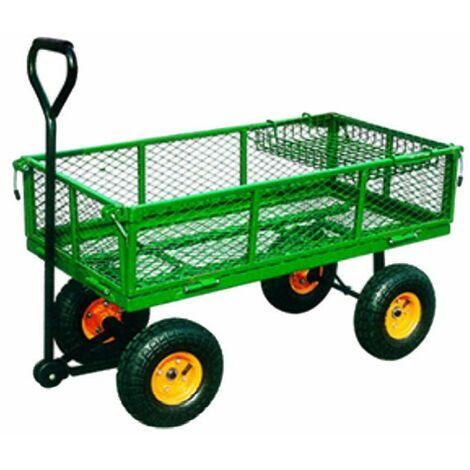Carrello Giardino 300 kg Apribile Portatutto Carriola Trasporto Legna Rimorchio