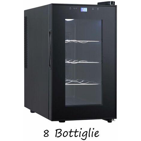 Cantina Vino 8 Bottiglie Frigorifero Libera Installazione Bevande Cantinetta Led