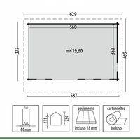 Casetta in Legno 5x3 Casa Chalet Ripostiglio per Attrezzi da Giardino Esterno