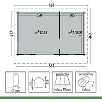 Casetta in Legno 5x3 Chalet Ripostiglio per Attrezzi Giardino Esterno BlockHouse