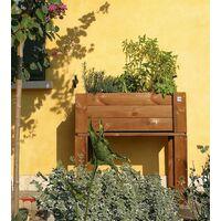 Fioriera 80x40 Orto Rialzato Urbano da Balcone Giardino Pensile Vaso in Legno