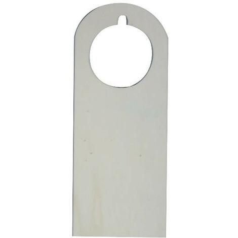 Tarjeta manilla puerta