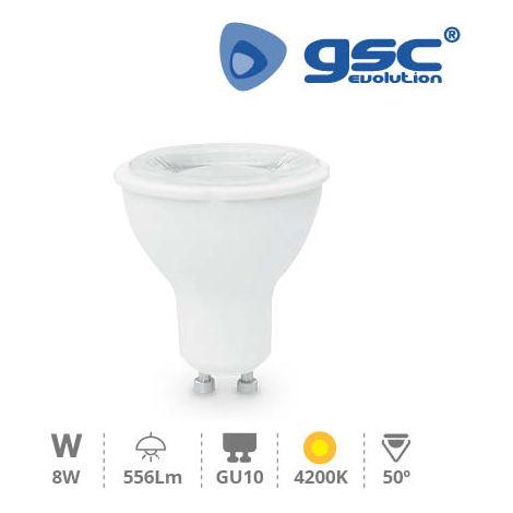 Lámpara Dicroica LED 50º 8W GU10 230V 4200K