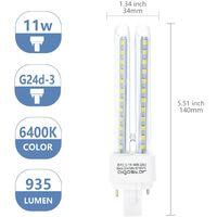 Pack 5 Bombillas Aigostar 002793 LED PLC 2U 11W Bombilla LED Maiz G24 6400K [Clase de eficiencia energética A+] [Clase de eficiencia energética A+]