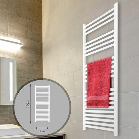 Sèche-Serviette pour Salle de Bain Radiateur Chauffage Mural - (1400x600 mm, Connexion Latérale)