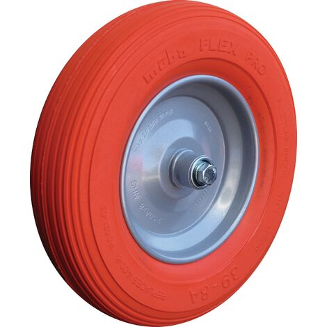 Roue polymère avec axe et roulement à billes D.roue 400 mm l. roue 100 mm