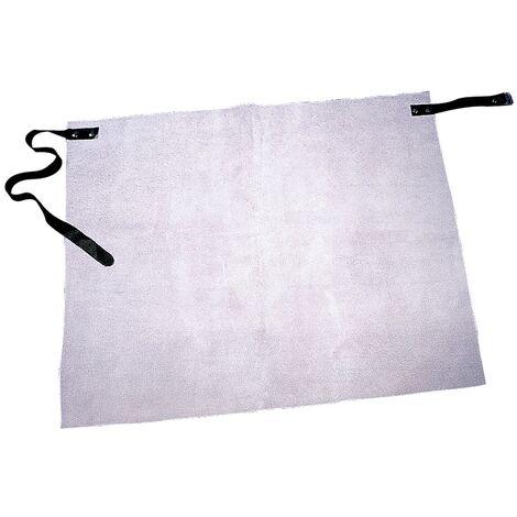 Tablier en cuir Longueur env. 70 x Largeur env. 60 cm blanc cuir refendu