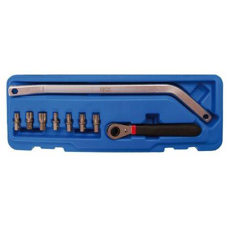 Coffret clé serrage de galet tendeur excentrique 7 embouts torx & XZN