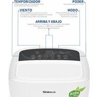Shinco Deshumidificador cómodo y silencioso, 10 L / día, adecuado para habitaciones de hasta 18 m²