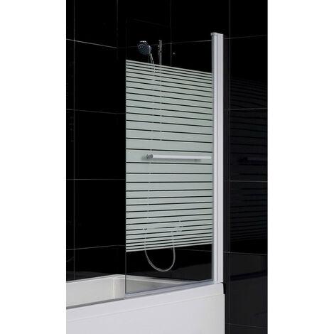 Pare baignoire MARTINA 86x140 cm - Orientation: Droit - Noir