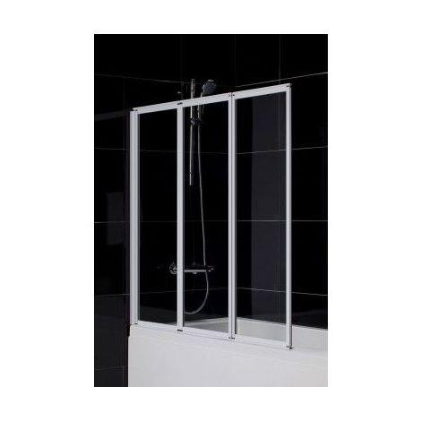 Pare baignoire ROGNO 130x140 cm - Noir