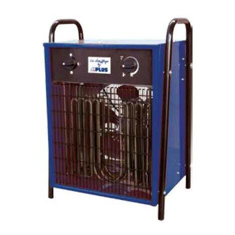 Splus - Aérotherme électrique 4,5 / 9,0 kW Tri 400V 37°C max. - ELP 9.1