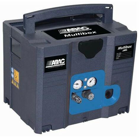 ABAC – Compresseur sans huile MULTIFONCTION en Box 6l 160L/min 9.6m3/h 8 bar - MULTIBOX