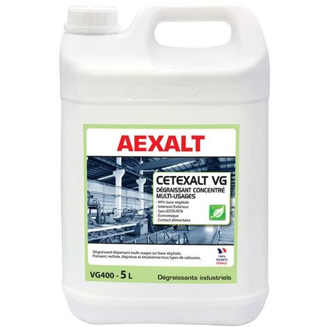 Déstockage - Aexalt - Dégraissant polyvalent concentré 5 L - CETEXALT VG