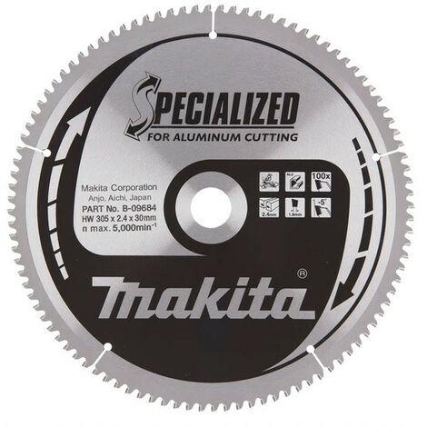 "Makita - Lame carbure ""Specialized"" Ø 305 x 30 mm 100 dents pour aluminium - B-09684"