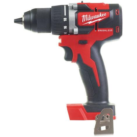 Promotion - Milwaukee - Perceuse visseuse compacte BRUSHLESS 18 V sans batterie ni chargeur 13 mm 60 Nm - M18 CBLDD-0