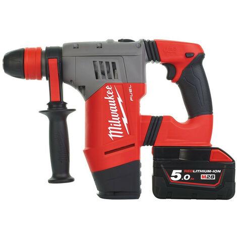 Promotion - Milwaukee - Perforateur burineur SDS-Plus FUEL 28 V 5.0 Ah 4.1 J avec coffret - M28 CHPX-502C