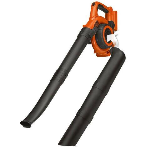 Black and Decker - Aspirateur souffleur à feuilles 36 V 218 km/h 17.5 l sans batterie ni chargeur - GWC3600LB-XJ