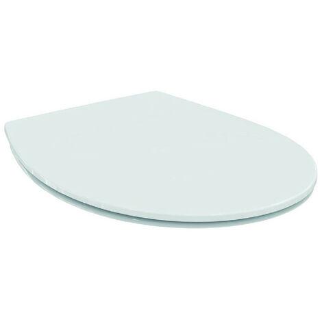 Ideal Standard - Abattant recouvrant ultra-fin urea blanc charnières inox