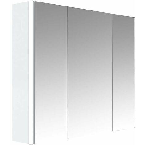 Armoire De Toilette Avec Eclairage Fluocompacte 49 Cm X 59 Cm Hxl Blanc 3283421661068