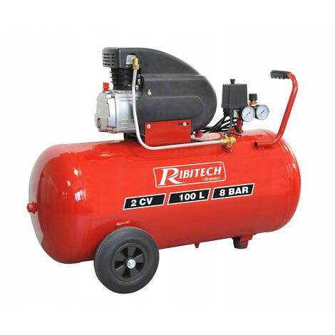 Ribitech - Compresseur 100 Litres 8 bar 2Cv - PRCOMP2/100