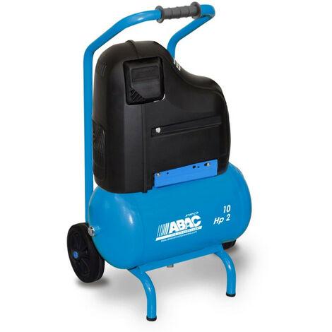 Déstockage - ABAC - Compresseur à piston non lubrifié 10L 8 bar 2CV 13,8 m3/h - PRO SILVERSTONE O20P