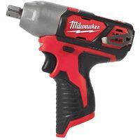 """Milwaukee - Boulonneuse à choc 12 V Li-Ion sans batterie ni chargeur 138 Nm carré 1/2"""" avec fixation O'Ring - M12 BIW12-0"""