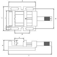Dolex - Etau perceuse en fonte spéciale Long 344 mm série 310 + 325