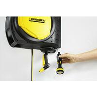 """Karcher - Dévidoir mural automatique avec flexible 1/2"""" de 20+2 m orientable 0° à 180° - CR 7.220"""